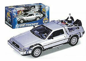 New Back to the Future 2 1:24 Scale Die-Cast DeLorean Car Model Time Machine FTY