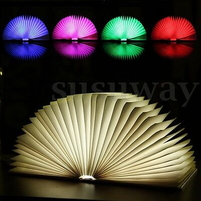 LED Book Lamp Light Night Rechargeable Foldable Reading Table USB Desk Booklight