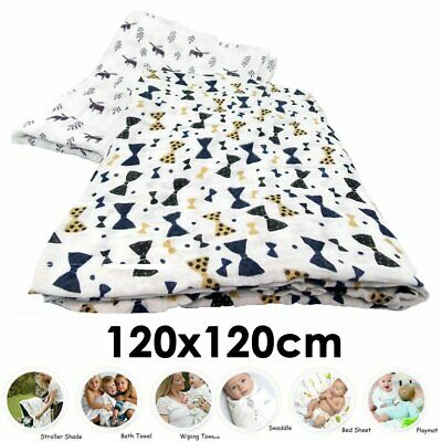 100% Cotton Baby Blanket Bow Shape Muslin White and Black Prem Cover Summer
