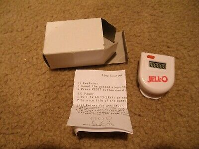 Vintage Jello Pedometer Step Counter  Still In Package  Unused
