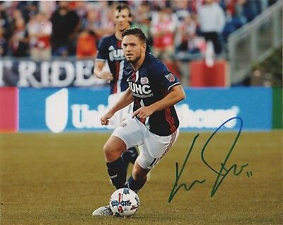New England Revolution Kelyn Rowe Autographed Signed 8x10 Photo COA B