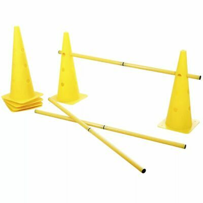 Kerbl 2-in-1 Agility Hurdle Cone Set Pet Training Sport Equipment Yellow 81994