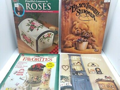 4 Vintage Tole Painting Books Donna Dewberry Priscilla's Roses Whippersnappers