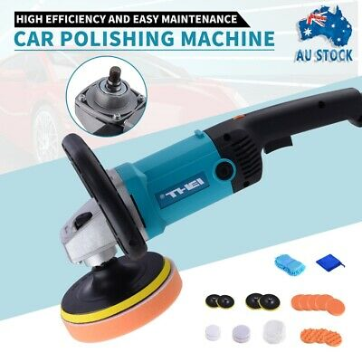 Car Polisher Buffer 180mm 150mm Sander Electric Tools kit 6 Speed 1600W AU PLUG