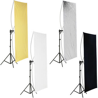 "Neewer 35x70""/ 90x180cm Photo Studio Gold/Silver and Flat Panel Reflector"