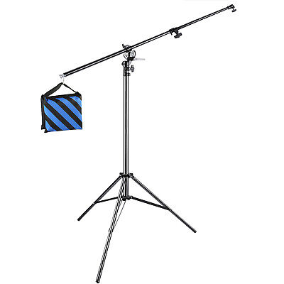 Neewer Photo Studio 2-in-1 Light Stand with 74.8-inch Boom Arm and Blue Sandbag