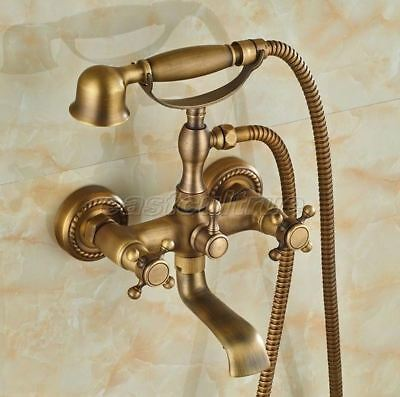 Designer Wall Mount Clawfoot Tub Faucet with Porcelain Handheld Shower 5759A