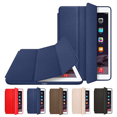 Genuine Smart Stand Leather Magnetic Case Cover For Apple iPad 234 mini Pro Air