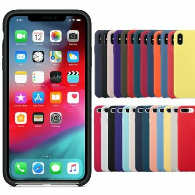 Genuine Silicone Soft Liquid Luxury Case Cover For Apple iPhone XS MAX XR 8 7 P
