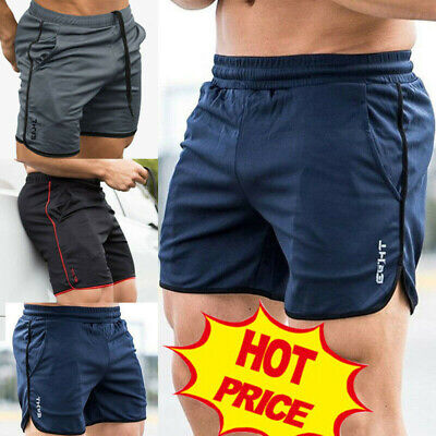 Casual Men's GYM Shorts Training Running Sport Workout Jogging Pants Trousers Vi