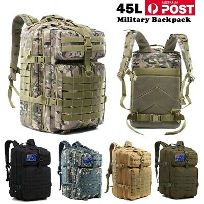 28-45L Hiking Camping Bag Army Military Tactical Trekking Rucksacks Backpacks AU