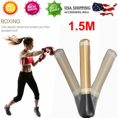 63 Inch Red Free Standing Inflatable Punching Bag Stand Speed Boxing Training PJ