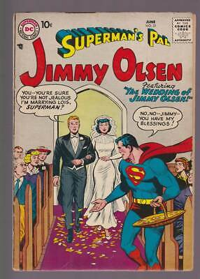 Jimmy Olsen # 21  The Wedding of Jimmy Olsen !  grade 4.5 scarce book !