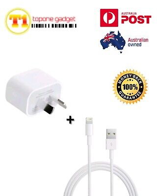 GENUINE Apple Wall Charger + Lightning Cable For iPhone 6 7 8 X XR XS AU SELLER