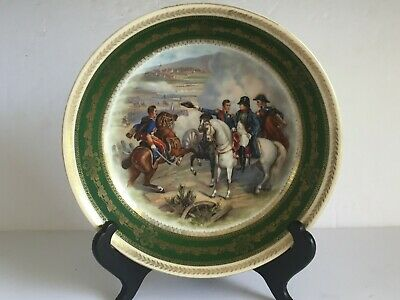 Antique Dresden Porcelain NAPOLEON Battle Scene Bowl COMBAT DE HEILSBERG