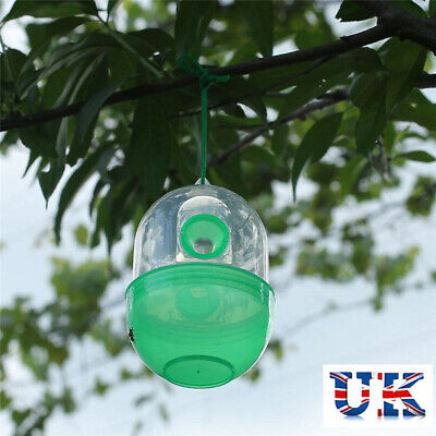1/2/4pcs Hanging Wasp Trap No Poison Free Bee Bug Harmless Fly Catcher Insect UK