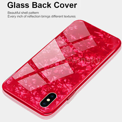 Luxury 3D Marble Tempered Glass Case Cover For iPhone 8 7 Shockproof