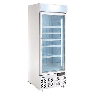 Polar Upright Display Freezer with Light Box 412 Ltr Litre - GH506 Catering