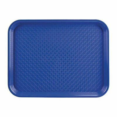 "Blue Fast Food Polypropylene Trays 13"" 16"" 18"" Various Sizes Restaurant Tray"