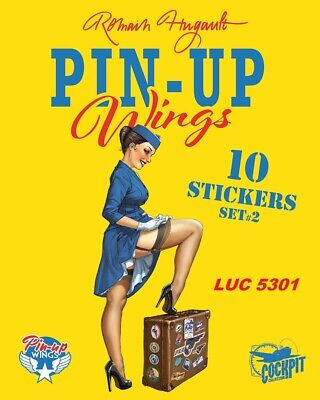 Set N°2 De 10 Stickers Pin-Up Wings Édition Limitée Romain Hugault Edit. Paquet