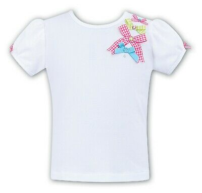 SARAH LOUISE Girls White/PinkTop  Age 3 BNWT