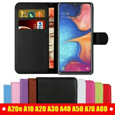 Case For Samsung Galaxy A20e A10e A50 A40 A30 A70 Leather Flip Card Wallet Cover