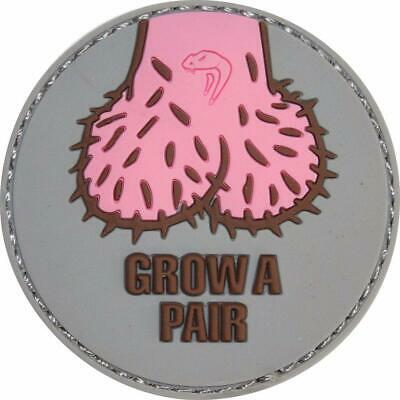Viper Morale Patch Grow A Pair Hook & Loop Fastening Airsoft Paintball Army