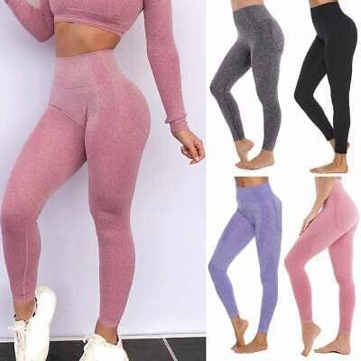Women Yoga Seamless Pants Sport High Waist Leggings Fitness Gym Running Training