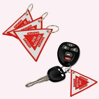 2018 Triangular Danger Ejection Seat Key Chain Key holder-Embroidery V5H2 K N9Z3