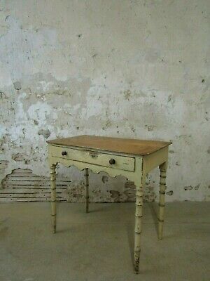 Painted Faux Bamboo Side Table, Regency, Antique