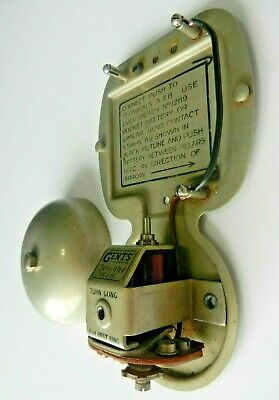 rare vintage gents of leicester electric bell 3-4.5v shop door fire unusual