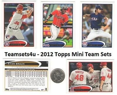 2012 Topps Mini Baseball Team Sets ** Pick Your Team Set ** See Checklist