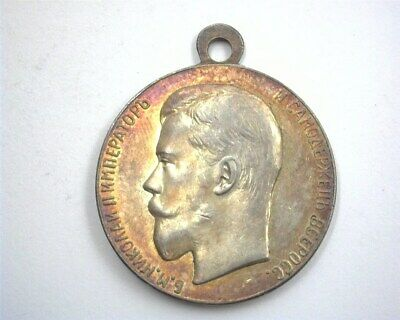 RUSSIA (ca.1894) SILVER MEDAL OF ZEAL -NICHOLAS II- GEM UNCIRCULATED (30mm)