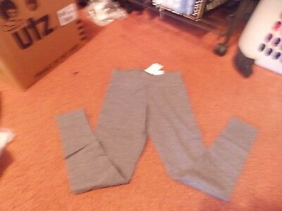 justice- --size 12-- gray -leggings-full length-nwt