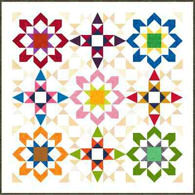 """NEW - DOOVALACKY - 55"""" x 55"""" - Pre-cut Quilt Kit by Quilt-Addicts Lap size"""