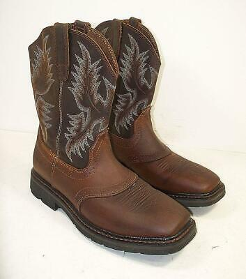 dc2a41a4fc9 MENS ARIAT SIERRA Saddle Steel Toe Brown Leather Work Boots Sz 13D ...