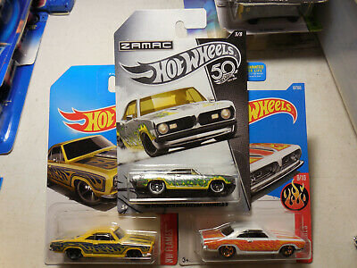 Hot Wheels 2017 Flames 68 Plymouth  Barracuda Formula S weiß