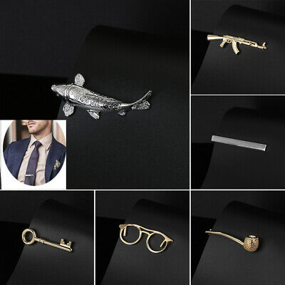 Accessories Luxury Style Jewelry Stainless Steel Neck Ties Clips Clasp Pin