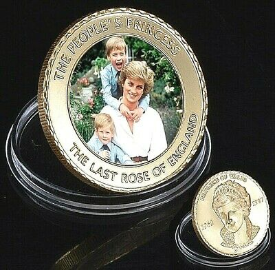Princess Diana Gold Coin Young Princes Harry William Royal Family Mint George UK