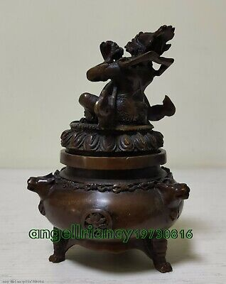 china antique style! bronze statue Lucky consecrate incense burner / censer