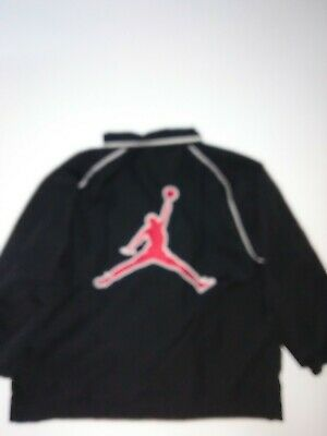 Air Jordan track jacket toddler size 3T color black and red