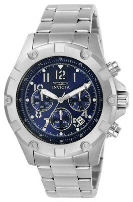 Invicta Specialty 13614 Men's Round Navy Blue Chronograph Date Analog Watch