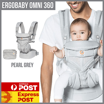 NEW ERGOBABY 360 OMNI COOL AIR MESH 4 Position ERGO BABY Carrier Pearl Grey