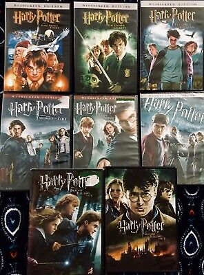 Lot Of 8 HARRY POTTER DVDS (5 New, 3 Watched Once)-Excellent Condition