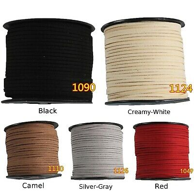 3mm Width Faux Suede Leather Cord Rope Korean Velvet DIY Jewelry Accessories Hot