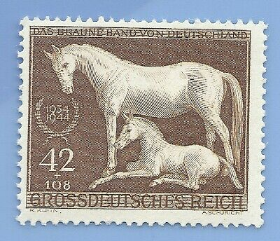 Nazi Germany Third Reich 1944 Horse Brown Band 42+108 Stamp MNH WW2 Era #30