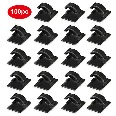 Black Wire Holder Cable Clips Management Organizer Clamp Self-Adhesive Cord BL3