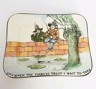 "Royal Doulton The Gallant Fishers Plate ""And When The Timrous Trout I Wait To..."