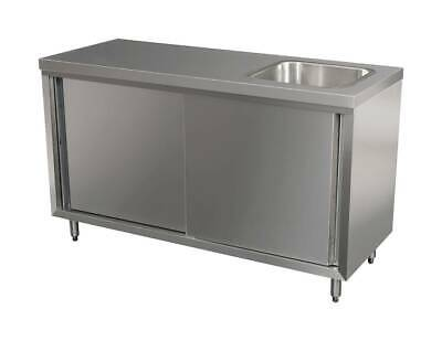 Stainless Steel Bench-Cabinet w Sink