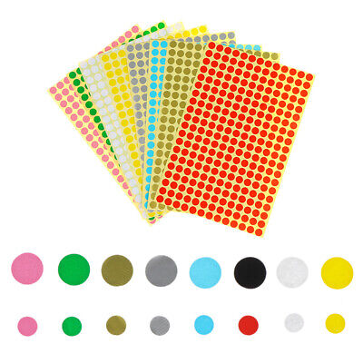 5 Sheet Adhesive Circles Label Sealing Stickers Dots Paper Sticky Party Decor AU